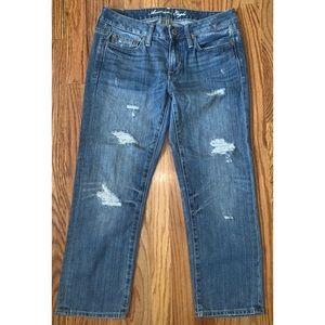 American Eagle boyfriend fit distressed Jeans